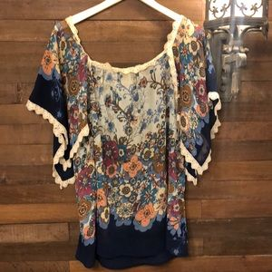 Boho 70's inspired flattering on everyone blouse